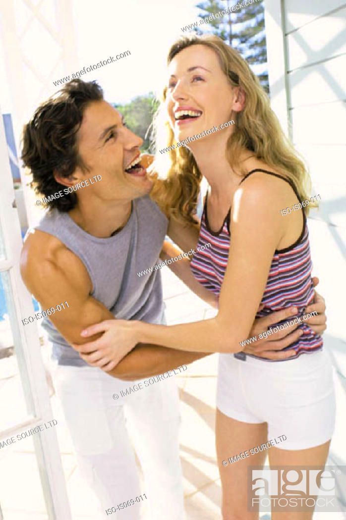 Stock Photo: Couple hugging.