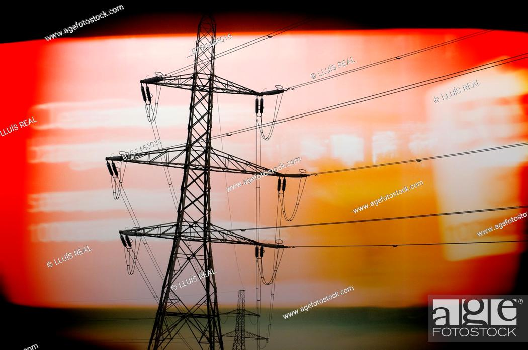 Stock Photo: Pylons.