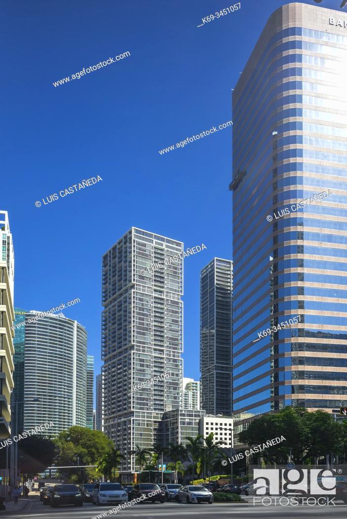 Stock Photo: Brickell Avenue. Miami. Florida. USA.