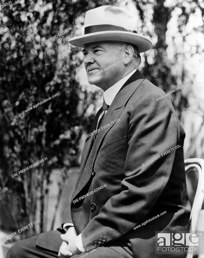 Stock Photo: Former President Herbert Hoover 1874-1964, U.S. President 1929-1933, circa 1937.