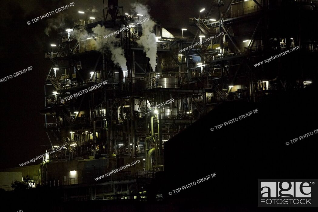 Stock Photo: Red Brick Park, Factory Night View, Reserved Cruise, Japan.