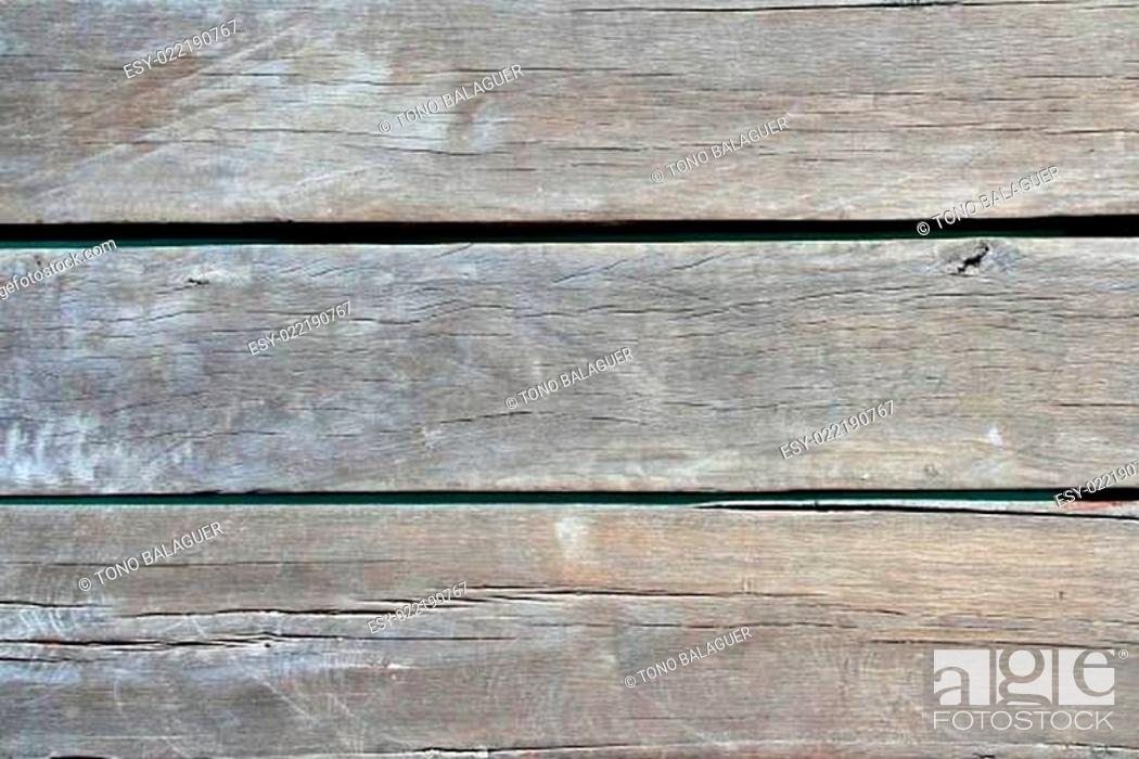 Stock Photo: aged tropical pier wood texture.