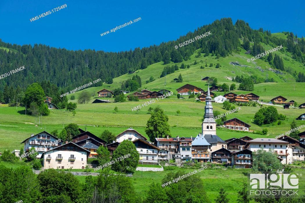 Stock Photo: France, Savoie, Beaufortain region, Hauteluce.
