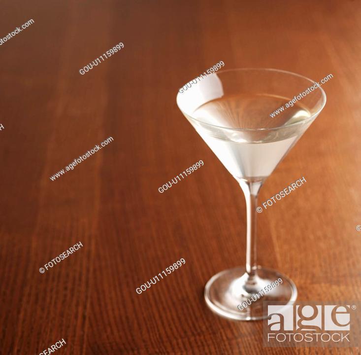 Stock Photo: Martini Glass.