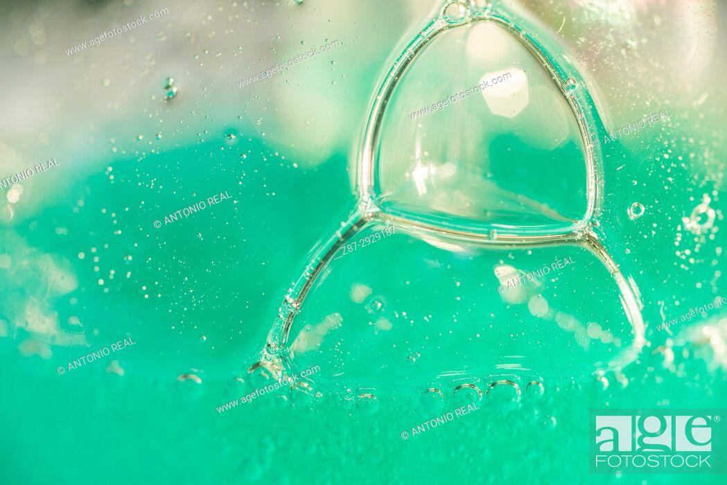 Stock Photo: Soap bubbles.