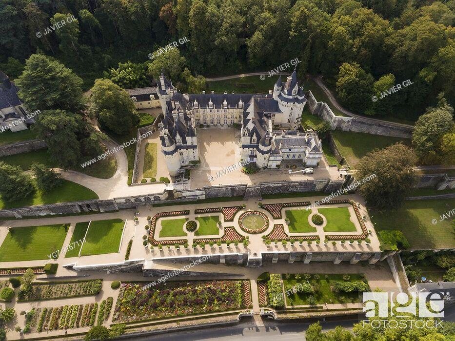 Stock Photo: Usse Castle, Usse, Indre et Loire, Loire Valley, France.