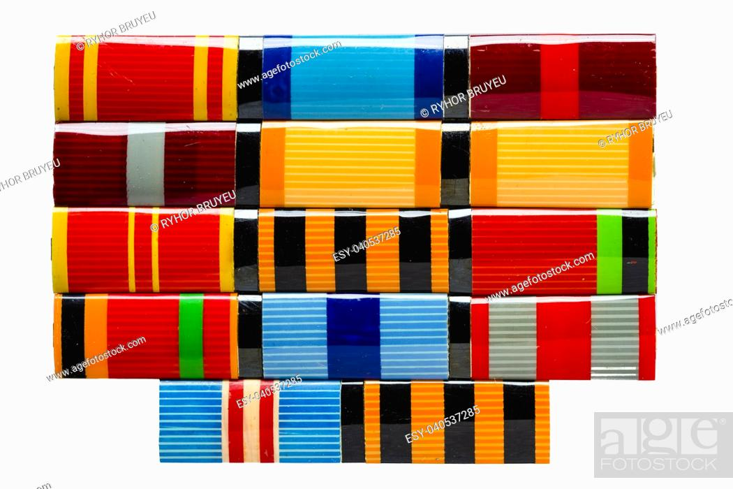 Imagen: Collection Of Russian (Soviet) Medal Ribbons For Participation In The Second World War.
