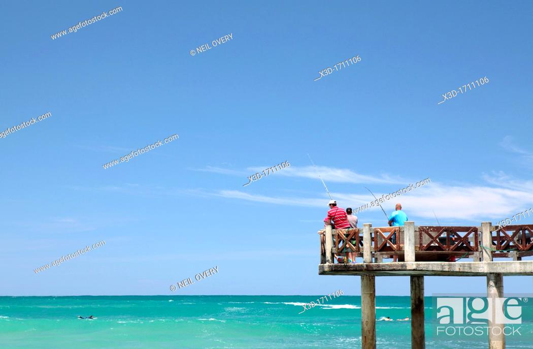 Stock Photo: Fishing at Victoria Bay, Western Cape, South Africa.