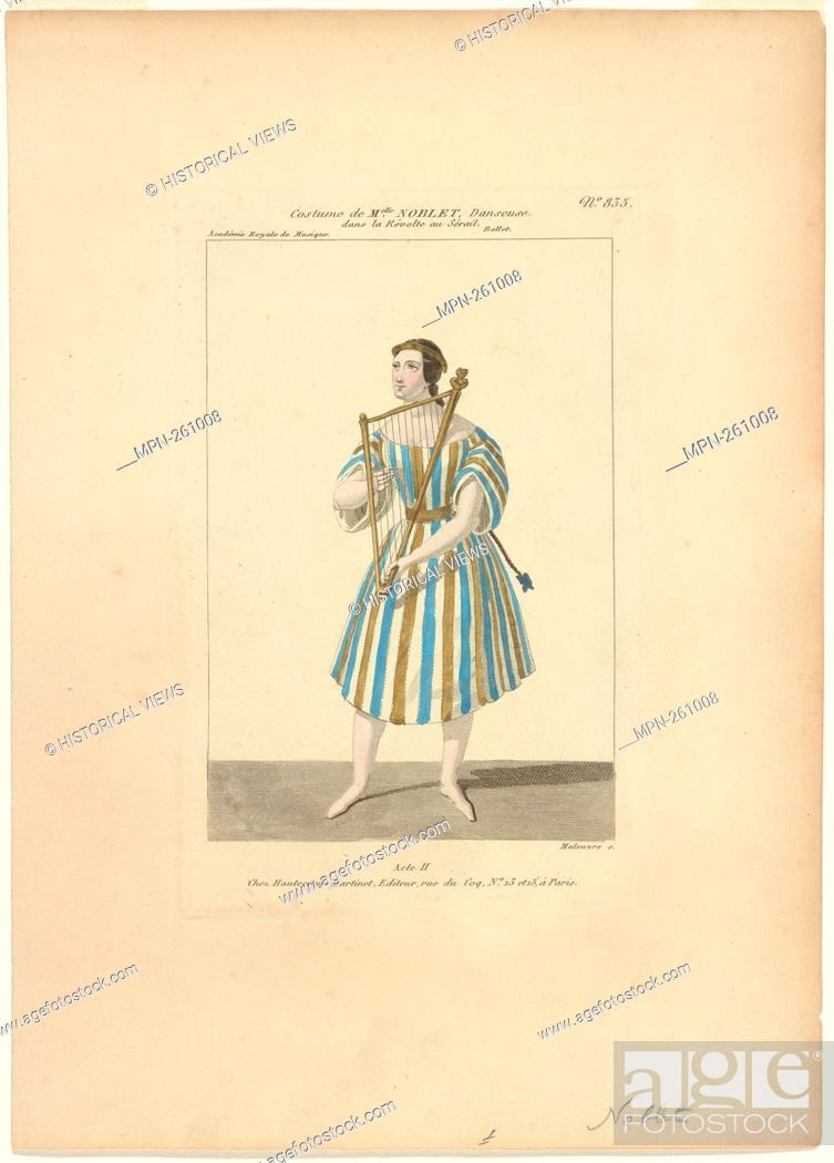Imagen: Costume de Melle Noblet, danseuse, dans La révolte au sérail, ballet, act II, Académie royale de musique Additional title: Révolte au sérail.