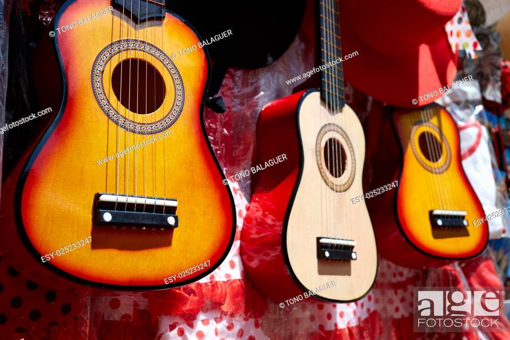 Imagen: Seville souvenir spanish guitar in Plaza Espana of Sevilla Andalusia Spain.