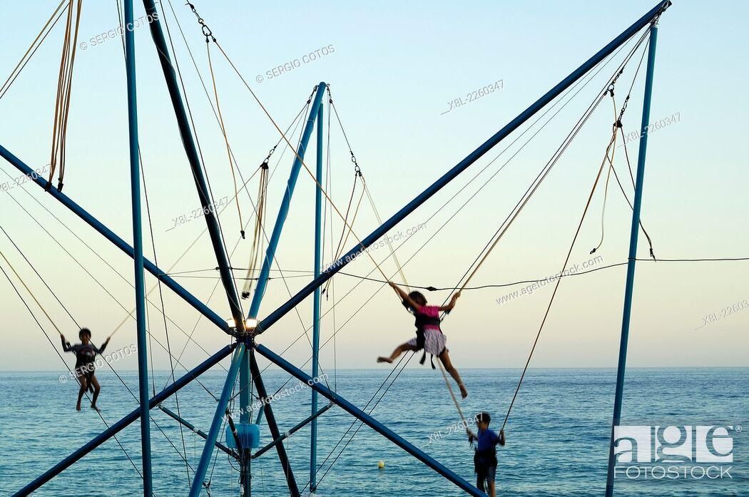 Stock Photo: Game for children in Nerja, Malaga, Spain.