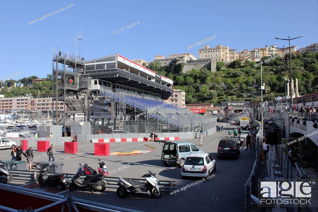 Imagen: Monaco Grand Prix event time stand construction for the event. Zoe Baker.