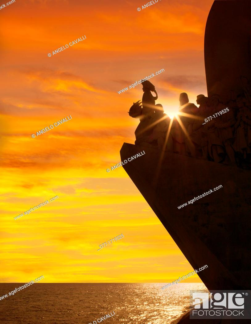 Stock Photo: Portugal, Lisbon, The Monument to Discoveries.