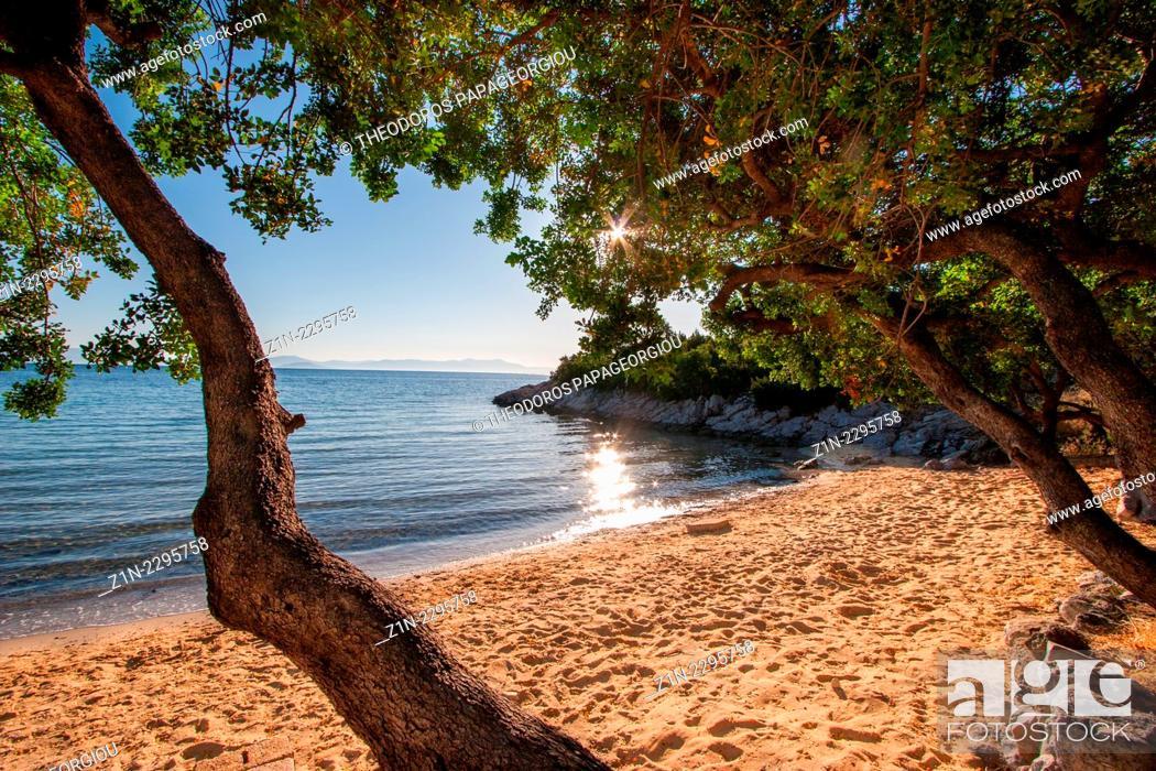 Stock Photo: Tserfou beach. Arcadia, Peloponnese, Greece.