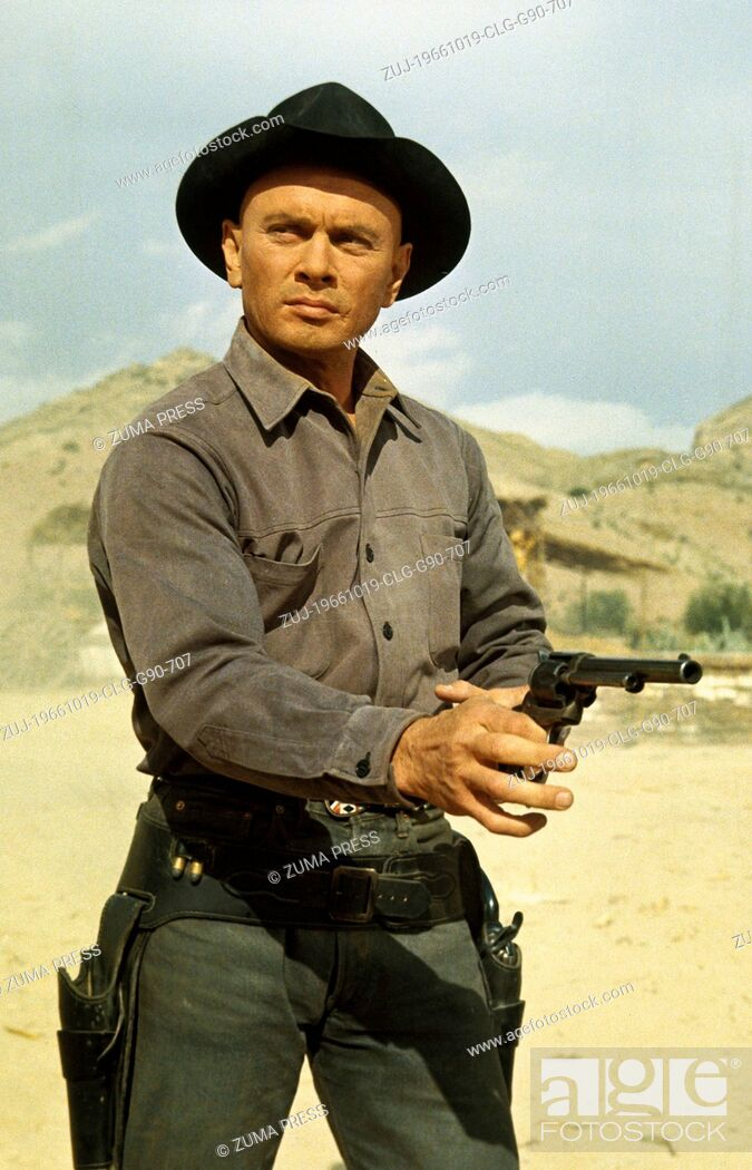 Stock Photo: Oct 19, 1966; Madrid, SPAIN; Actor YUL BRYNNER stars as Chris Adams in the Burt Kennedy directed western, 'Return of the Seven.