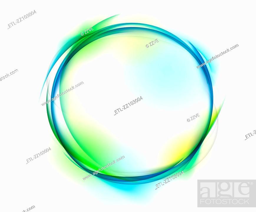 Stock Photo: circle shape on white background.