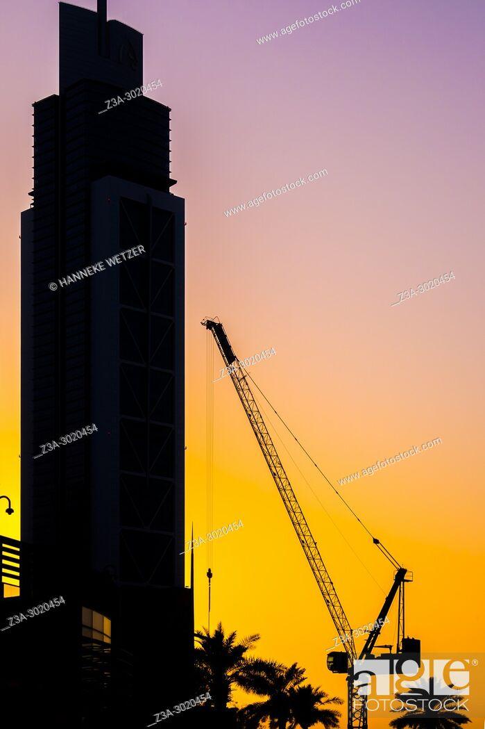 Stock Photo: Sunset in Dubai, UAE.