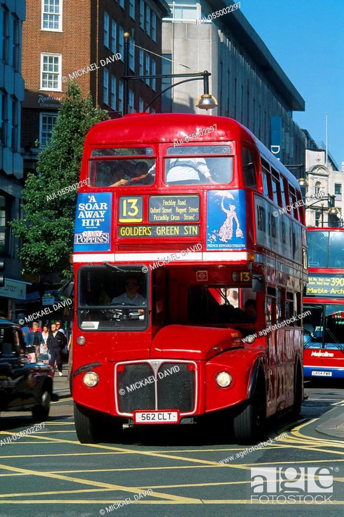 Stock Photo: England - London - Soho and Mayfair district - Oxford Street.