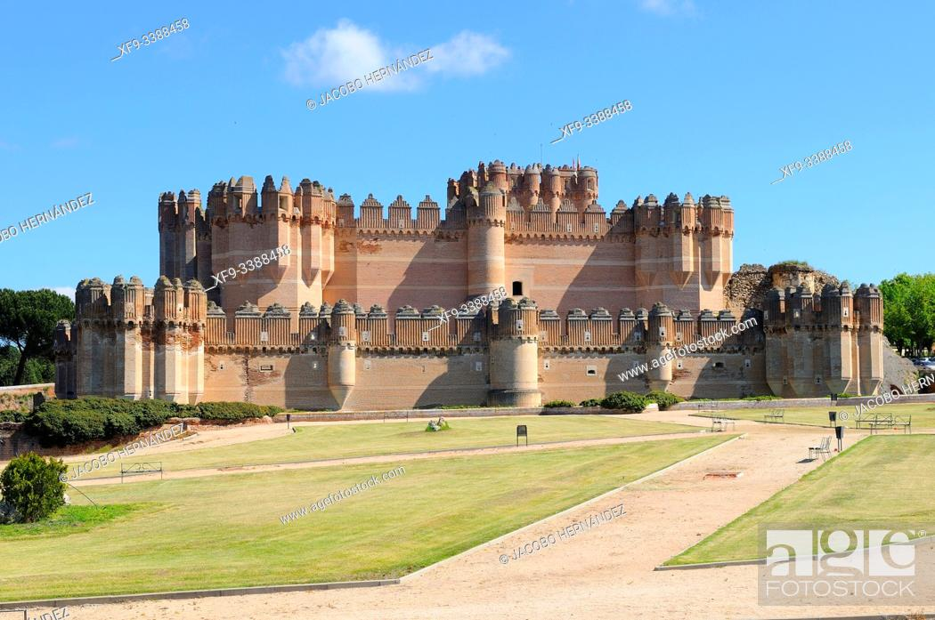 Stock Photo: Castle of Coca. Segovia province. Castilla y León. Spain.