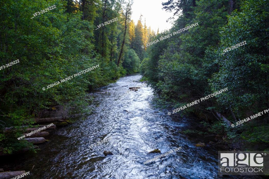 Stock Photo: North Umpqua River in Oregon near Toketee Falls.