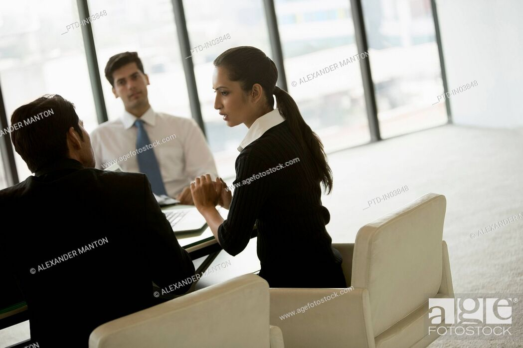 Stock Photo: India, Business people on meeting in office.