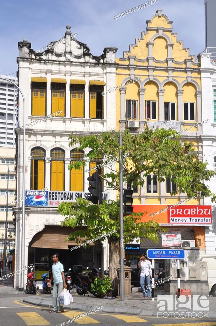 Stock Photo: Kuala Lumpur (Malaysia): colonial buildings by the Central Market.