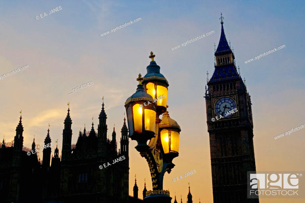 Stock Photo: Houses of Parliament, London, England.