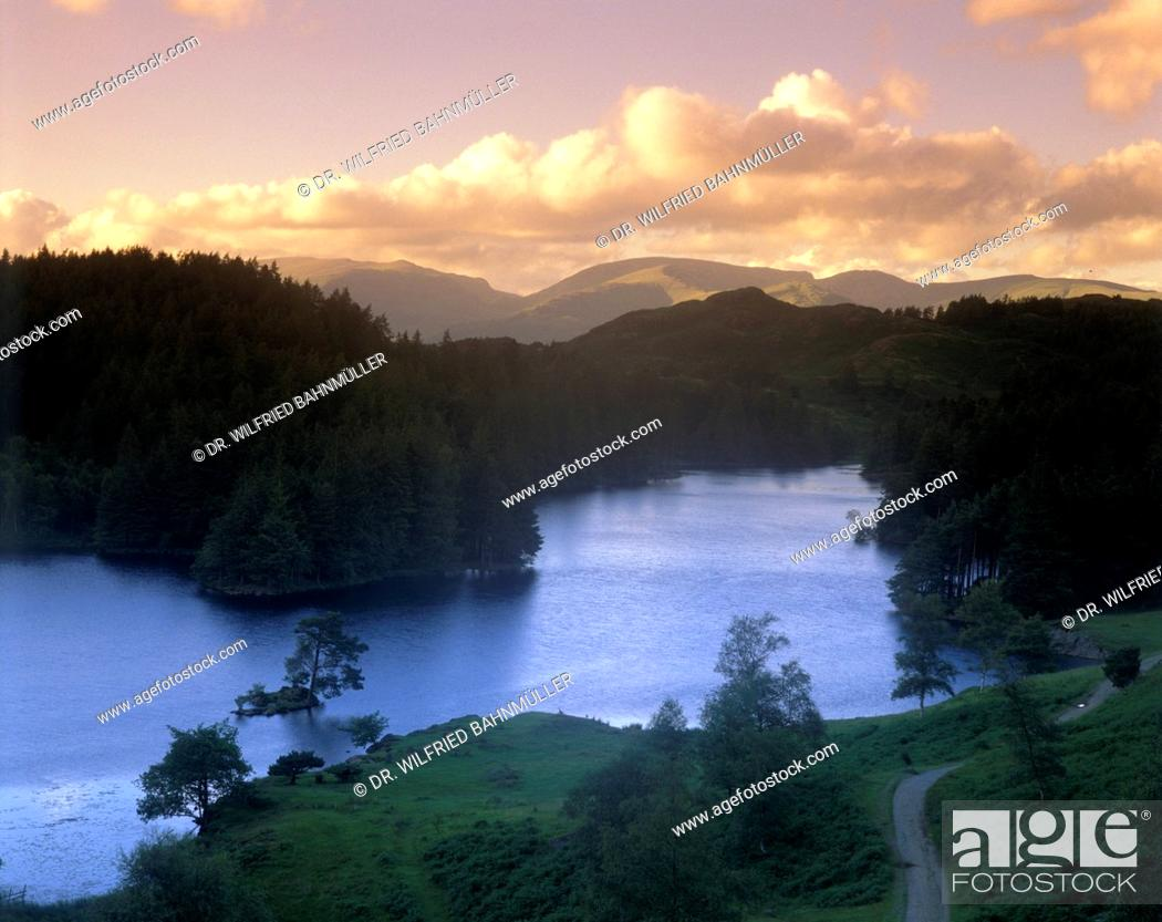 Stock Photo: Cloudy mood at Tarn Hows lake, near Coniston, Cumbria, England, United Kingdom.