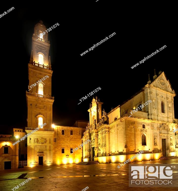 Stock Photo: Lecce, Cathedral square: bell tower.