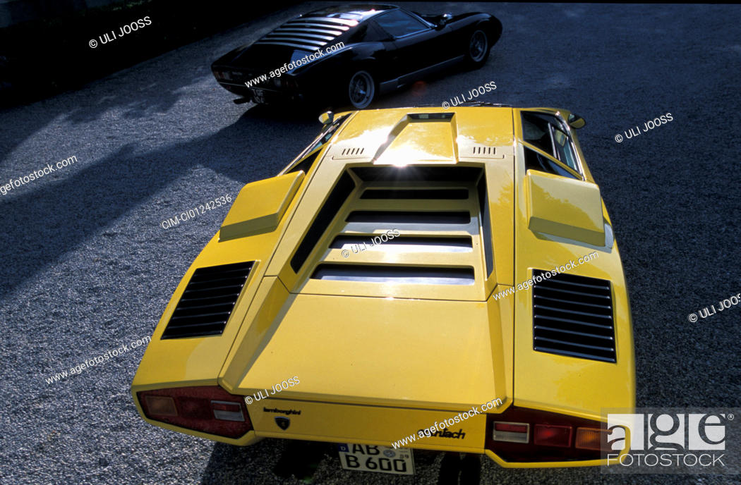 Car Lamborghini Countach Roadster Model Year 1974 Yellow Coupe