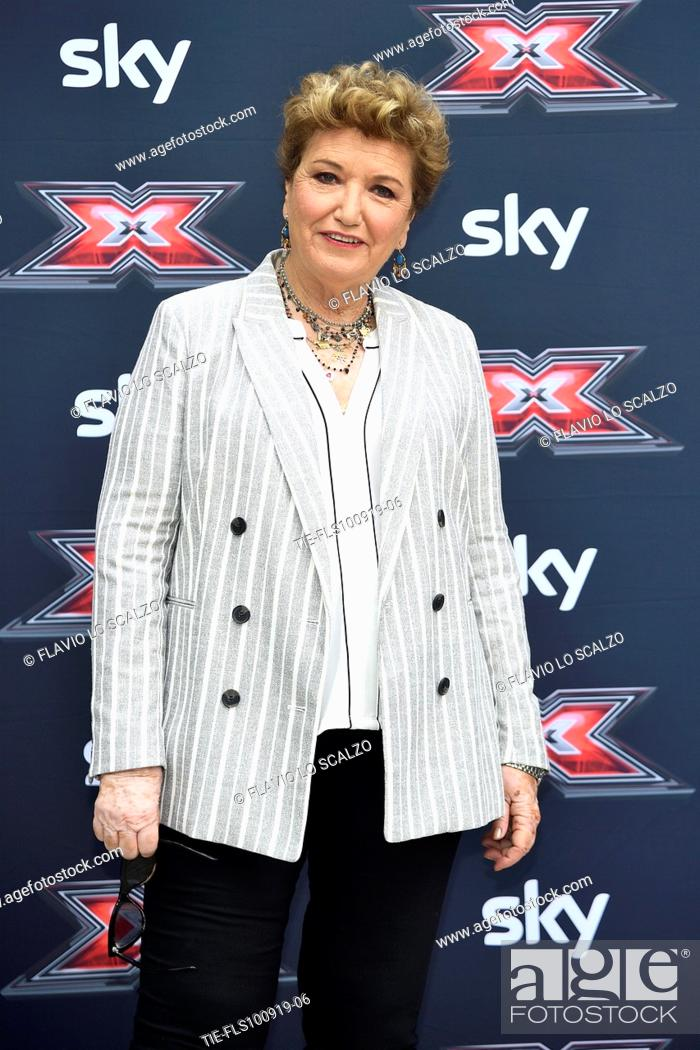 Stock Photo: Record producer Mara Maionchi during the photocall of X Factor 2019, Milan, ITALY-10-09-2019.