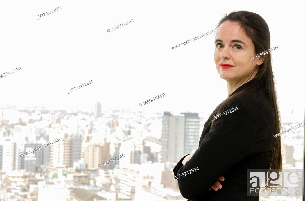 Imagen: Shibuya, Tokyo / Japan - April 2 2012 : French writer AmŽlie Nothomb poses for pictures in Tokyo, Japan. She visited Tokyo to film her documentary show 'La.