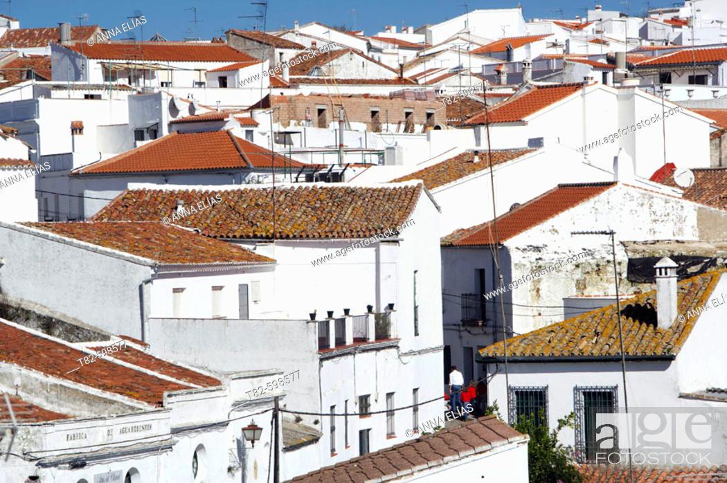 Stock Photo: Cazalla de la Sierra. Sevilla province, Andalusia, Spain.