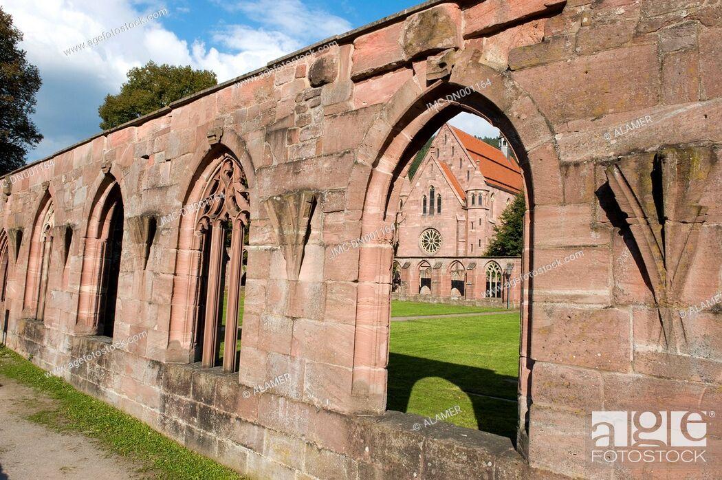 Stock Photo: Germany, Calw, Hirseau abbey, cloister.