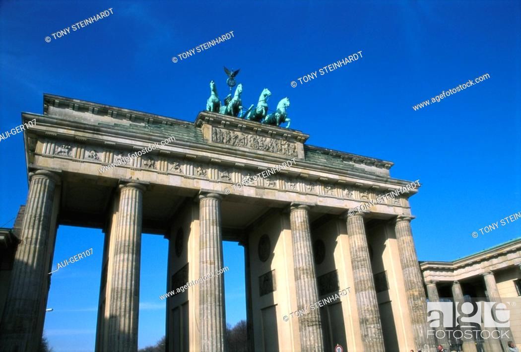 Stock Photo: Germany - Berlin - Brandenburg Gate.