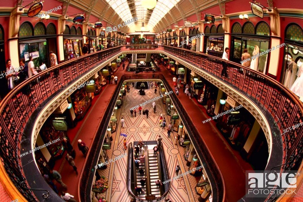 Stock Photo: Interior of Queen Victoria Building, Sydney, Australia.