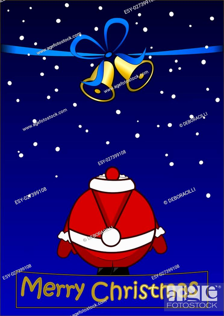 Imagen: Merry Christmas - Christmas card with Santa Claus.