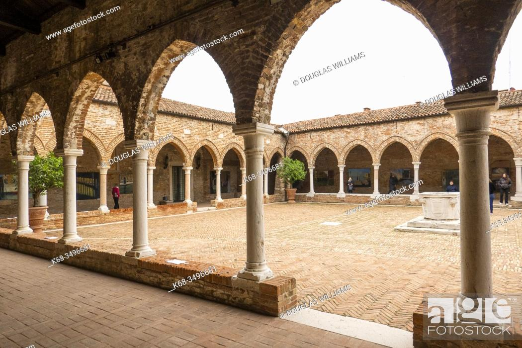 Stock Photo: Cloister in Church of Madonna dell'orto in Venice, Italy.
