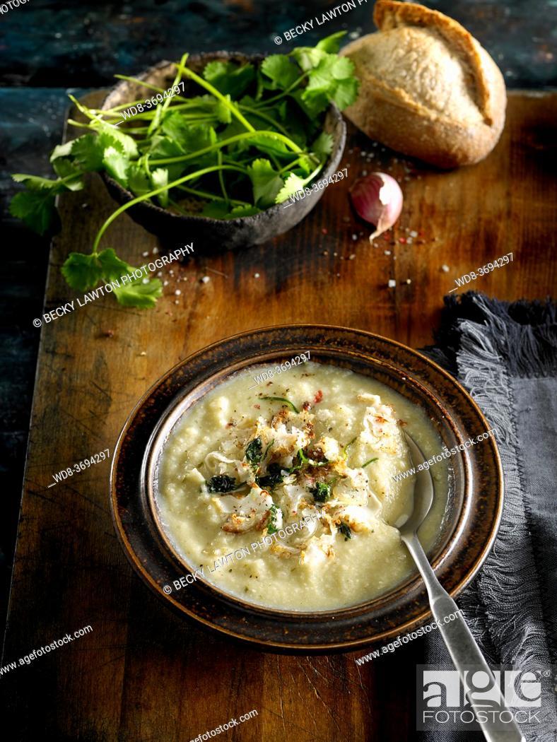 Stock Photo: cauliflower cream.
