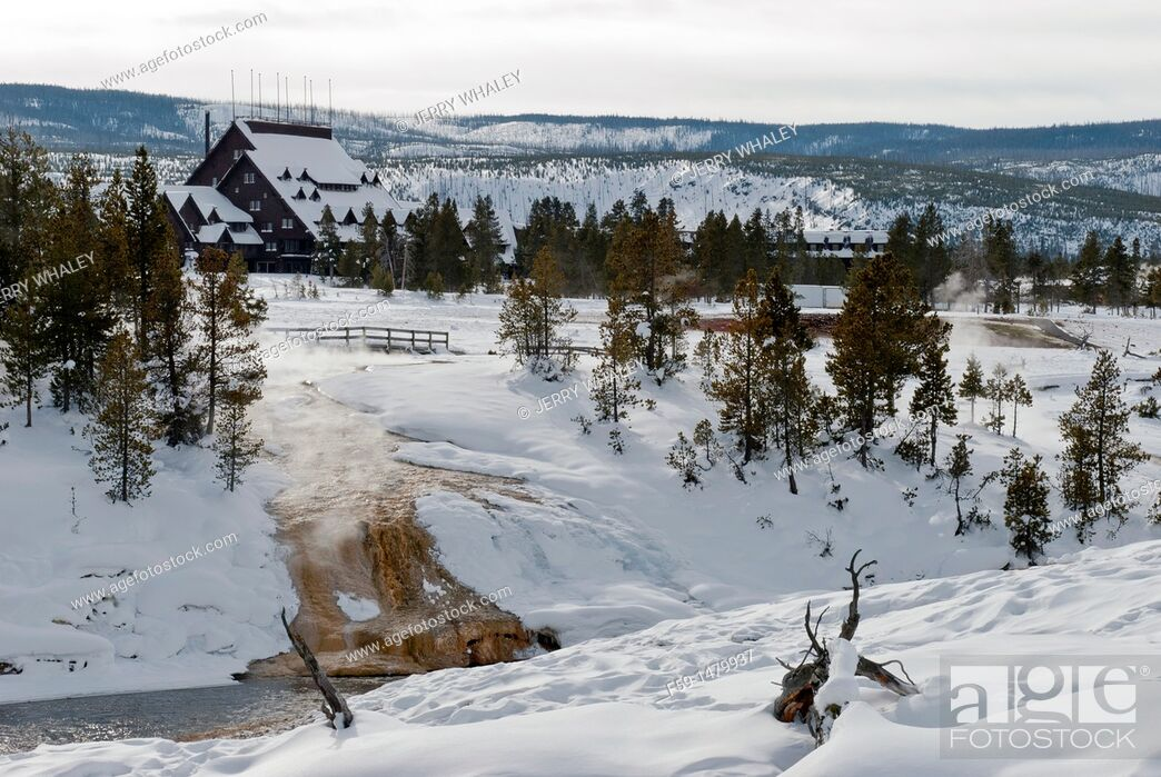 Stock Photo: Firehole River, Winter, Upper Geyser Basin, Yellowstone NP, WY.