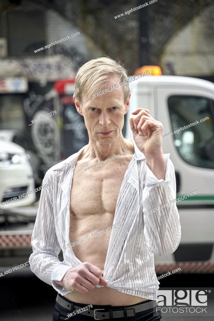 Stock Photo: Eccentric man in London, England.