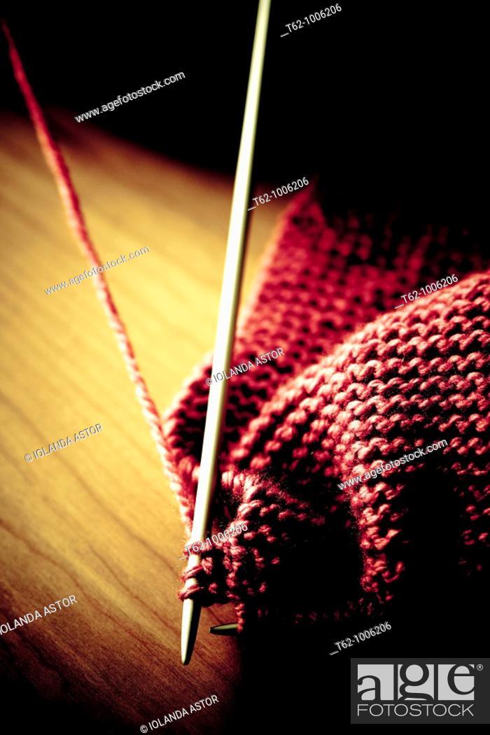 Stock Photo: Knitting  Needles  Handicraft.