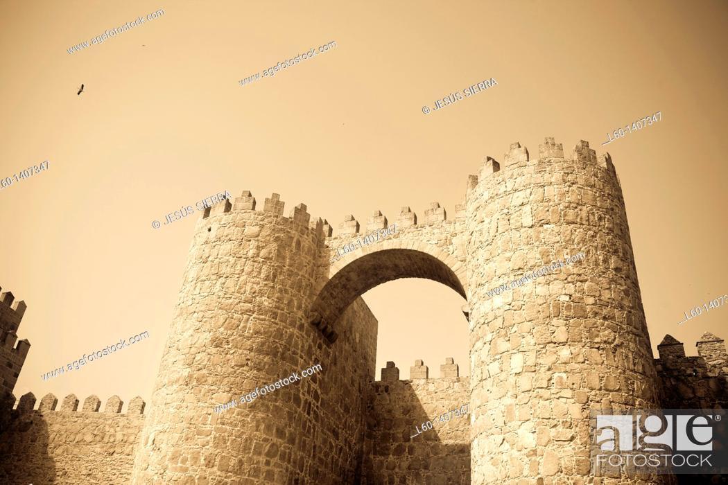 Stock Photo: 'Puerta del Alcazar' Avila Spain.