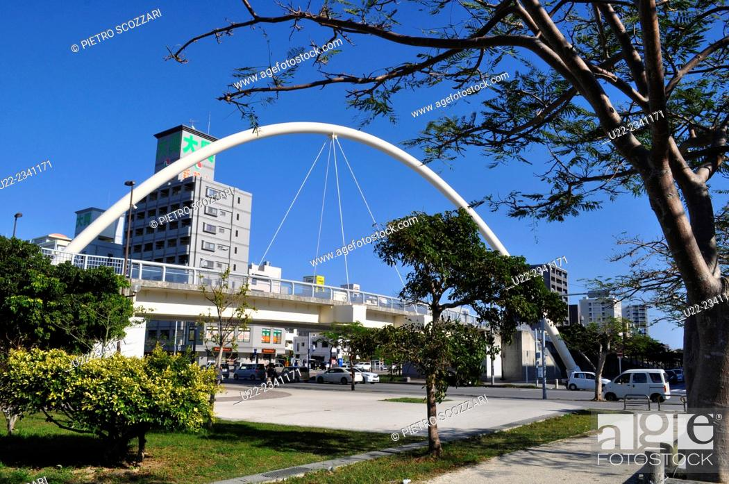 Stock Photo: Naha, Okinawa, Japan: park in Shintoshin.