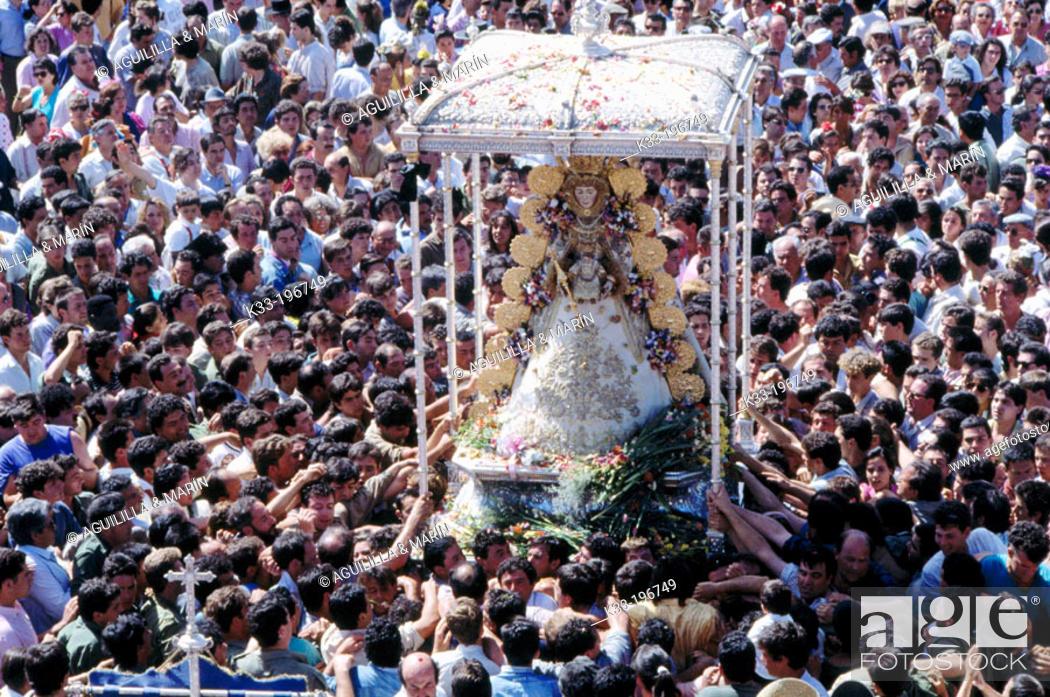 Stock Photo: 'Romería' (pilgrimage) at El Rocío. Huelva province. Andalusia. Spain.