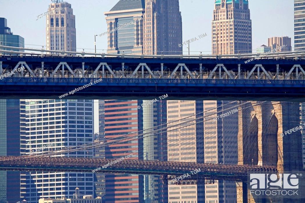 Stock Photo: United States, New York, Manhattan, Triboro bridge.