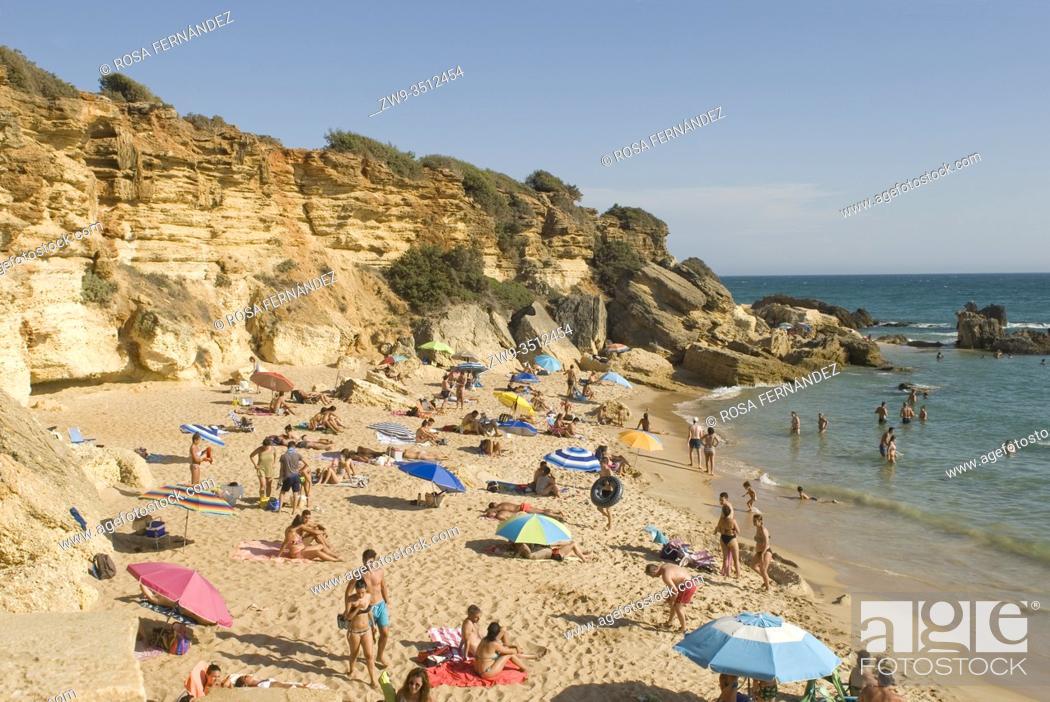 Stock Photo: Calas de Conil, Conil Coves, Pato Beach, Conil de la Frontera, province of Cadiz, Andalucia, Spain.