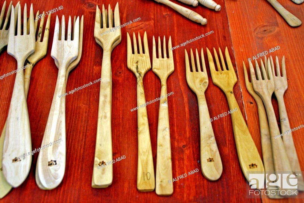 Stock Photo: Boxwood forks.