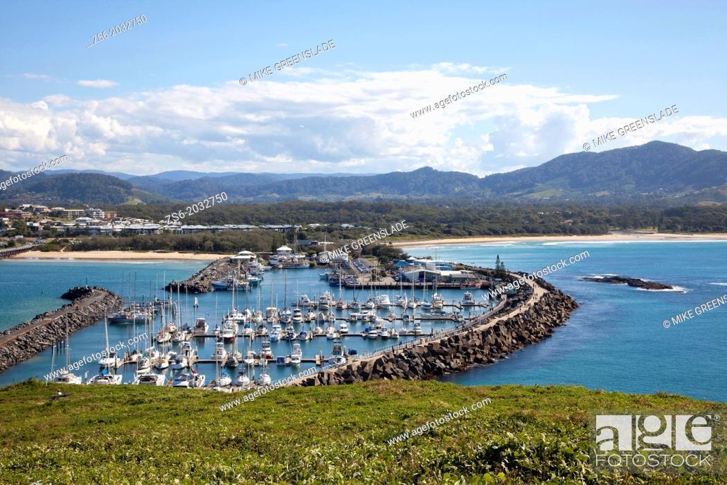 Imagen: Coffs Harbour Marina from Muttonbird Island, NSW, Australia.