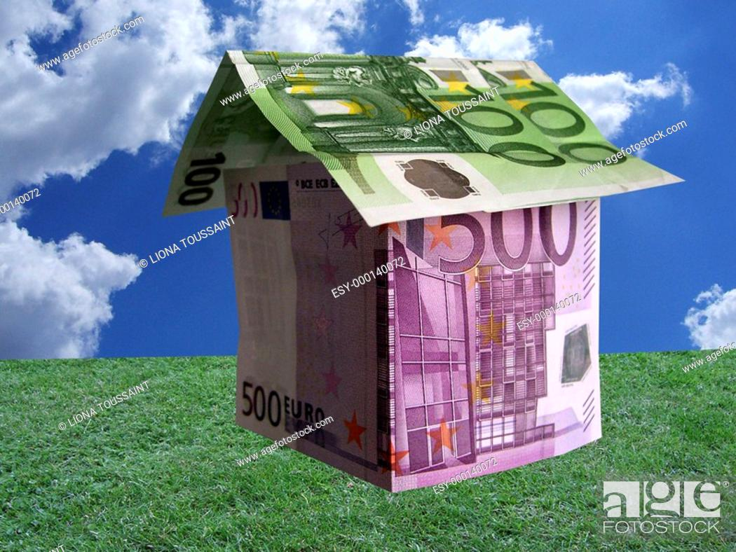 Hausbau Finanzierung Familienplanung Stock Photo Picture And